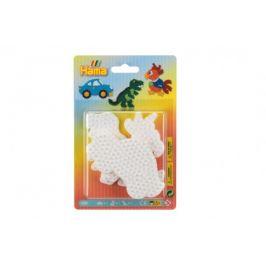 Lowlands Podložka na zažehlovací korálky Hama auto,papoušek,dinosaurus plast 3ks na kartě 12x18x3cm