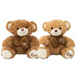 Teddies Medvěd sedící s mašlí plyš 34cm 2 barvy v sáčku 0+