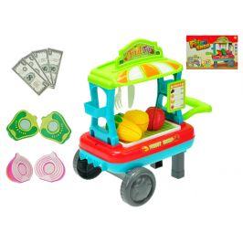 Mikro Trading Vozík ovoce/zelenina pojízdný 23x33x20cm s doplňky skladem