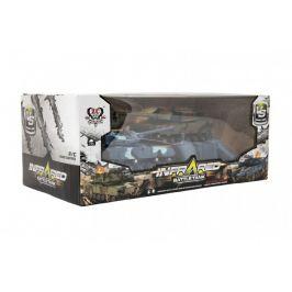 Teddies Tank RC 2ks 19-21cm plast tanková bitva na baterie se zvukem se světlem v krabici 39x15x19cm