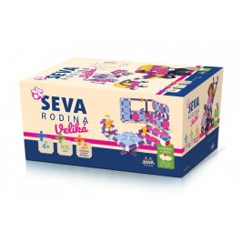 Stavebnice SEVA RODINA Veliká plast 915ks v krabici 27x38x18cm