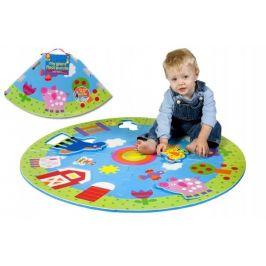 Teddies Pěnové puzzle kruhové - FARMA