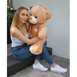 Baby Nellys Plyšový medvěd 120cm - sv. hnědý