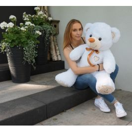 Baby Nellys Plyšový medvěd 120cm - bílý
