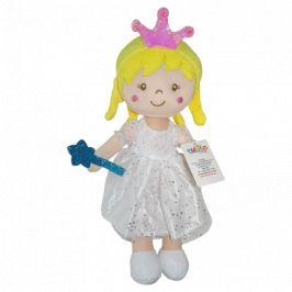 Hadrová panenka Tulilo Arabela, 30 cm - bílá