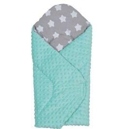 Depemo Tomi růžek - Minky hvězdy šedá/zelená měkký