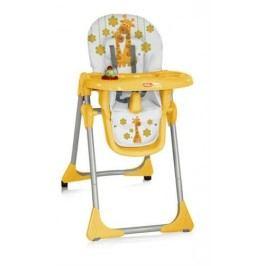 Jídelní židlička Bertoni Yam Yam - oranžové žirafy