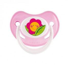 Canpol babies dudlík silikonový třešinka HAPPY GARDEN 18m+ - růžová