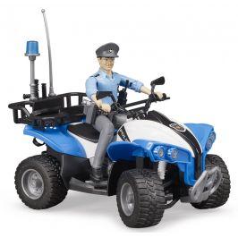 Bruder 63010 Policejní čtyřkolka s figurkou