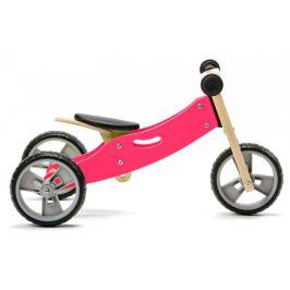 Nicko Dřevěné odrážedlo 2v1 mini růžová