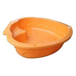 PalPlay Pískoviště-bazének srdce oranžová
