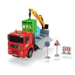 Dickie Auto Truck Heavy City 22 cm, červená