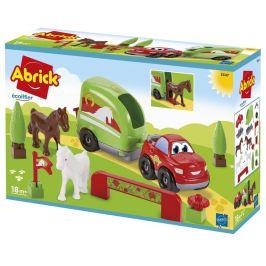 Ecoiffier Abrick Traktor s přívěsem a zvířátky