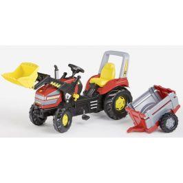 Rolly Toys Šlapací traktor X-Trac s vlečkou Junior červený