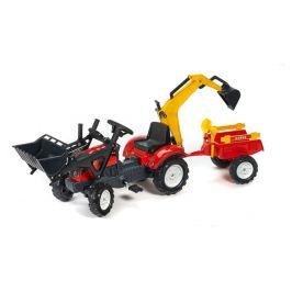 Falk Traktor RanchTrac přední nakladač + bagr + přívěs