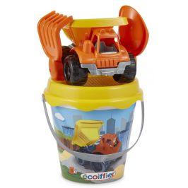 Ecoiffier Kyblíček se stavebním autem a příslušenstvím 17 cm