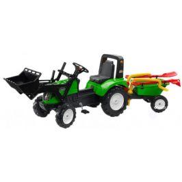 Falk Traktor šlapací Garden Master s valníkem, přední lžící a příslušenstvím