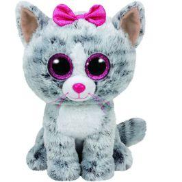 TY Beanie Boos šedá kočka KIKI, 24 cm - Medium