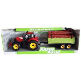 Mac Toys Traktor s valníkem a drěvem