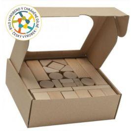 T-wood Dřevěné kostky 50 kusů