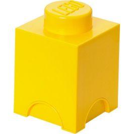 LEGO Úložný box 12x12x18 cm žlutá