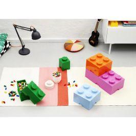 LEGO Úložný box 12x12x18 cm tmavě zelená