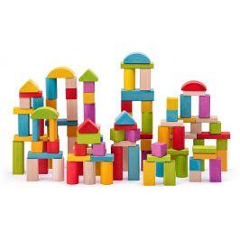 Woody Stavebnice kostky přírodní a barevné