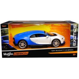 Maisto Bugatti Chiron bílá 1:24