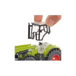 SIKU Traktor s předním nakladačem a přívěsem 1:50