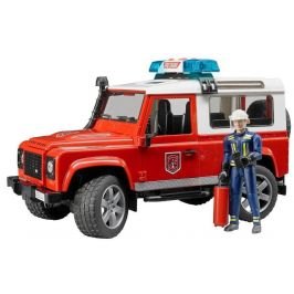 Bruder 2596 Land Rover hasiči s figurkou