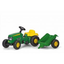 Rolly Toys Šlapací traktor Rolly Kid J.Deere s vlečkou - zelený