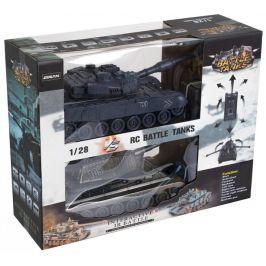 Teddies Tank RC 2ks 36 cm + dobíjecí pack tanková bitva se zvukem