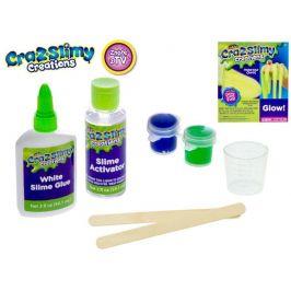 Mikro hračky Sada na výrobu slizu Cra-z-slimy svítícího ve tmě s doplňky v krabičce