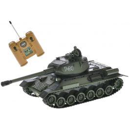 Mikro hračky RC tank 26cm 1:28 27MHz zelený na baterie