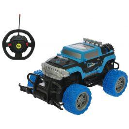 Mikro hračky RC auto off-road 1:20 20cm 27MHz s volantem, modrá
