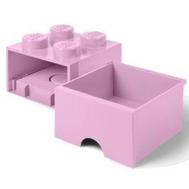 LEGO Úložný box 4 s šuplíkem světle růžová