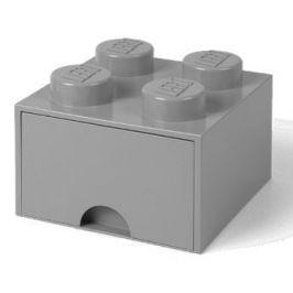 LEGO Úložný box 4 s šuplíkem šedá