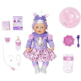 BABY born Soft Touch panenka speciální edice v jednorožčím oblečku, 43 cm