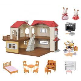 Sylvanian Families Dárkový set - Patrový dům s červenou střechou A