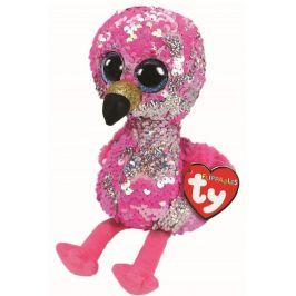 TY Beanie Boos Flippables Pinky - plameňák 24 cm s otočnými flitry