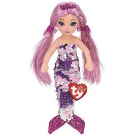 TY Mermaids Lorelei - fialová mořská panna 45 cm s otočnými flitry