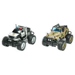 Mikro hračky Auto 2 ks policie + army 26 cm na setrvačník