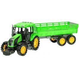 Mikro hračky Traktor s vlečkou na setrvačník 70 cm na baterie se světlem 10 zvuků