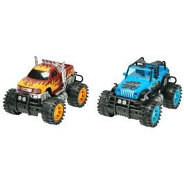 Mikro hračky Auto 2 ks monster + buggy 25 cm na setrvačník