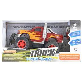 Mikro hračky R/C auto terénní 26 cm 27 MHz plná funkce na baterie se světlem červené