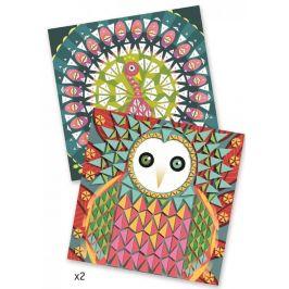 Djeco Mozaika duhový páv a sova
