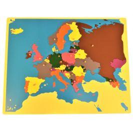 Montessori pomůcky Puzzle mapa Evropa bez rámečku