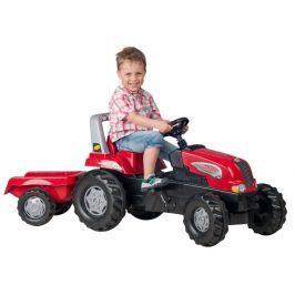 Rolly Toys Šlapací traktor Rolly Junior s vlečkou červený - rozbaleno