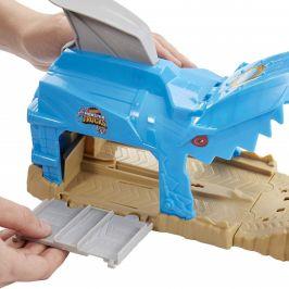 Hot Wheels Monster trucks závodní herní set modrý