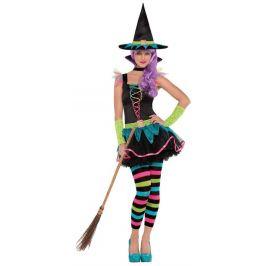 Dívčí kostým Neonová čarodějnice